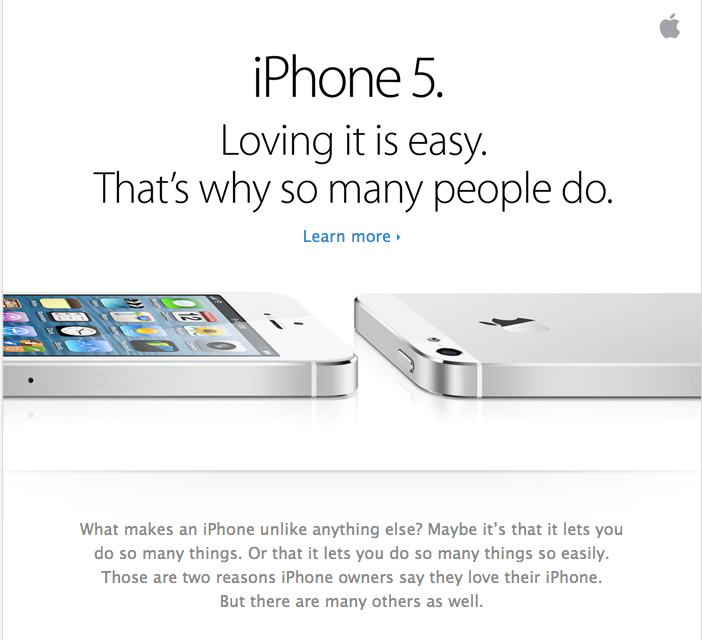 iPhone ad, 2012