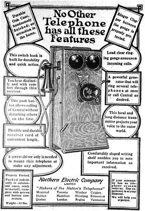 Telephone advertising of the past